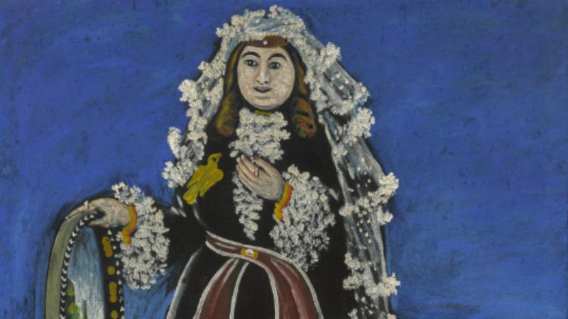 ქალი ლეჩაქით