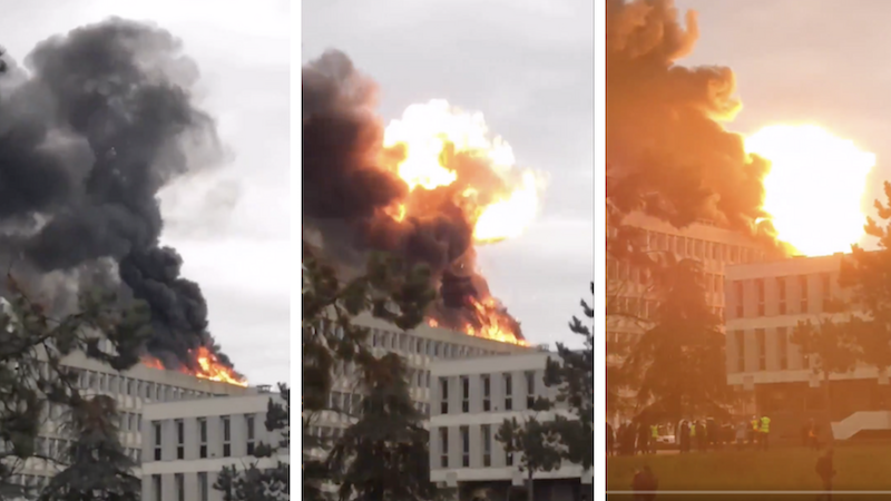 საფრანგეთის ლიონის უნივერსიტეტში ძლიერი აფეთქება მოხდა, გაჩნდა ხანძარიც