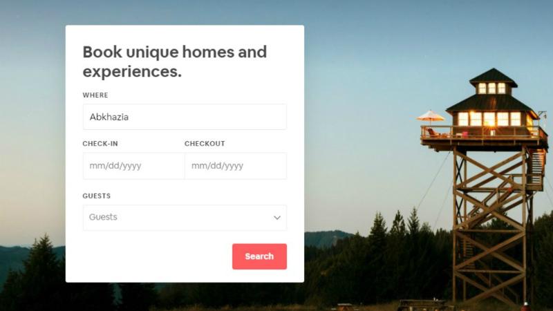 Airbnb საქართველოს ოკუპირებულ რეგიონებში სახლების გაქირავებაზე ინფორმაციას აღარ წაშლის