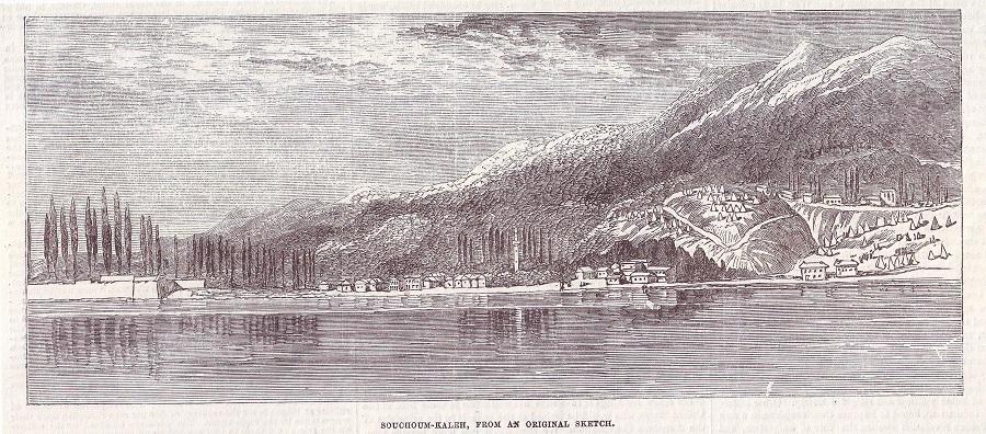 სოხუმის ჩანახატი და The Illustrated London News