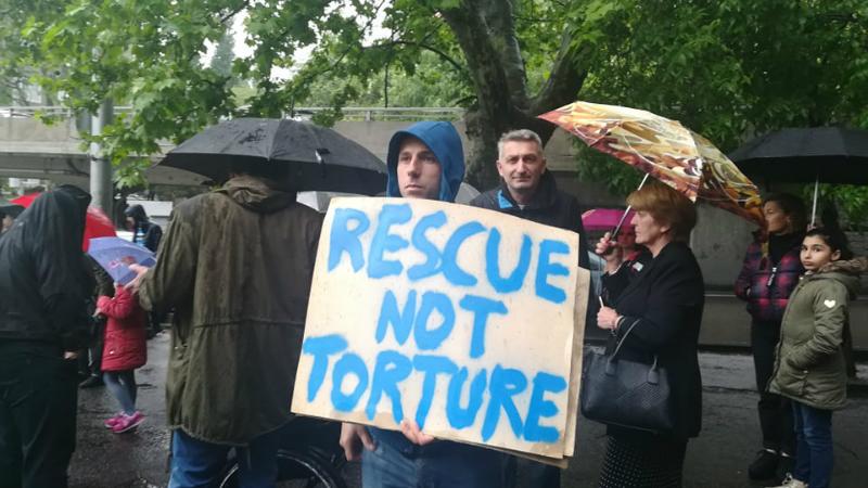 """""""ცირკი ცხოველების გარეშე"""" - აქცია თბილისში. ფოტო: თიკო კვალიაშვილი"""