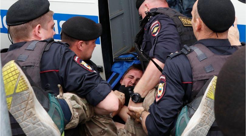 ივან გოლუნოვის მხარდამჭერი აქცია მოსკოვში. ფოტო: EPA/YURI KOCHETKOV