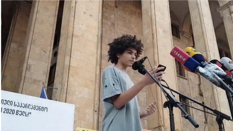 """მიხარია რაც აქ ხდება, ნახევრად იამაიკელი, ნახევრად მეგრელი ვარ- 14 წლის ლუკა აქციაზე  """"სირცხვილია – 16.0"""""""