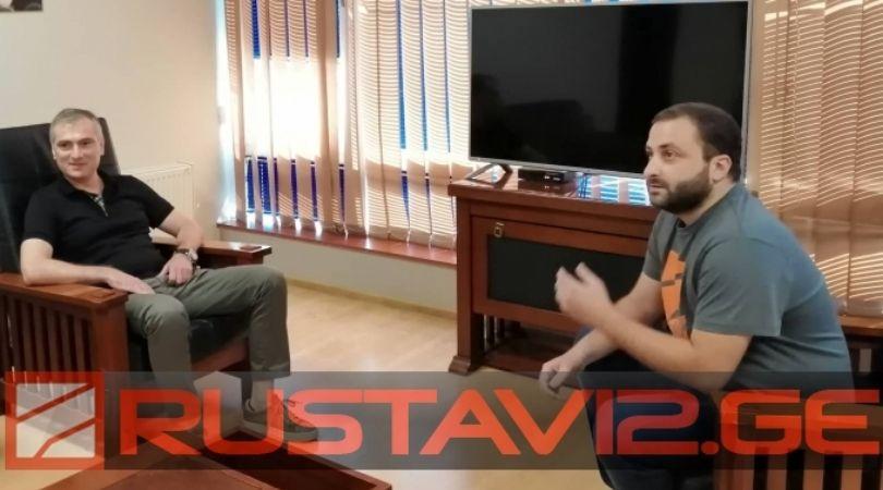 """პაატა სალია """"რუსთავი 2""""-ის ფინანსურ დირექტორს ხვდება"""