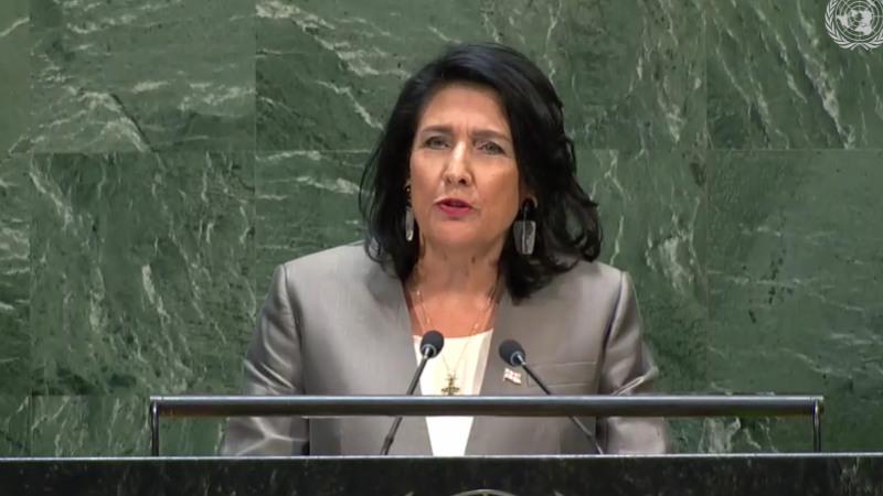 Саломе Зурабишвили благодарит за заявления «в поддержку августовской войны»