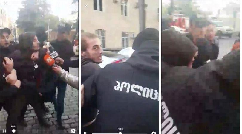 პოლიციამ აქციაზე ზუკა ბერძენიშვილი დააკავა – [ვიდეო]