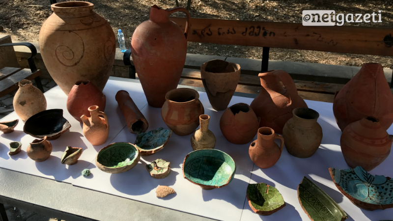 გუდიაშვილის მოედანზე აღმოჩენილი არქეოლოგიური ნიმუშები