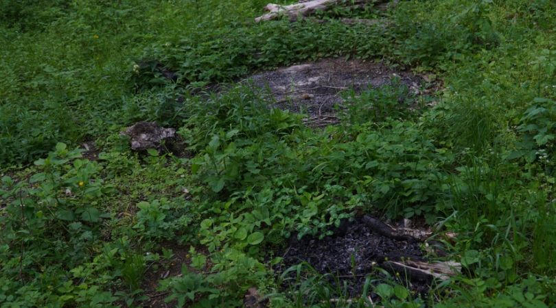 კოცონის კვალი, რომლის აღმოჩენის შემდეგაც გადაწყდა ჭიშკრის ჩაკეტვა. ფოტო: სოფო აფრიამაშვილი/ნეტგაზეთი