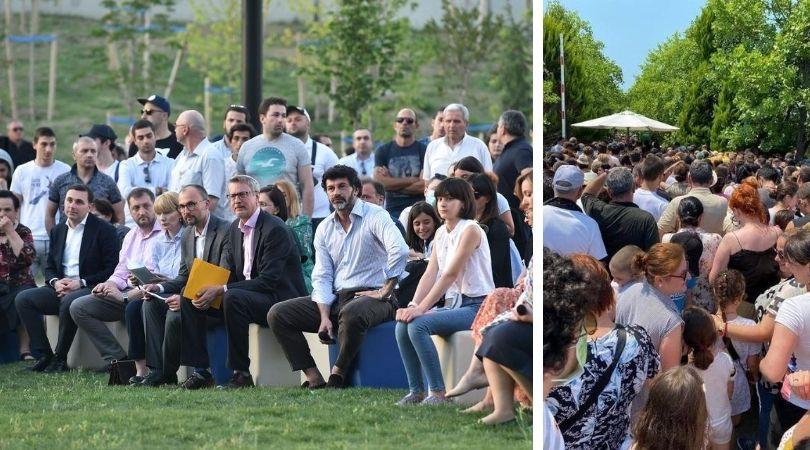 მარცხნივ: განახლებული მზიურის პარკის გახსნა; მარცხნივ: რიგი დენდროპარკში