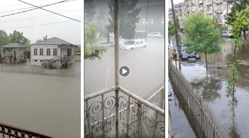 ძლიერი წვიმის შედეგად ფოთი დაიტბორა [ვიდეო]