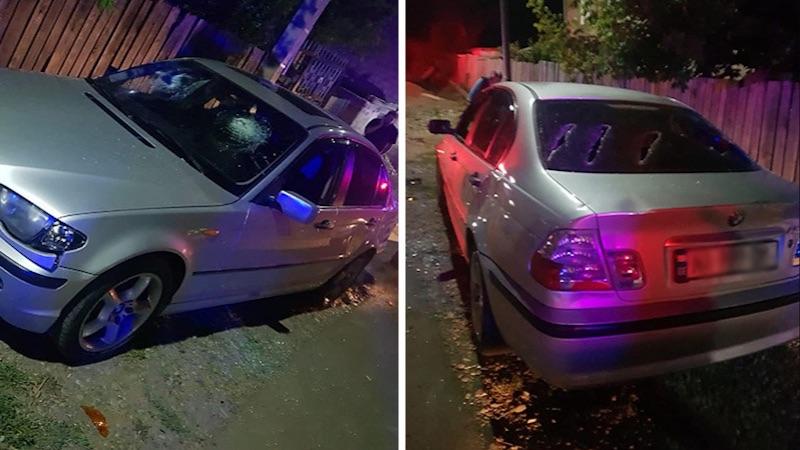 В Ахалцихе повредили автомобиль гражданина Азербайджана