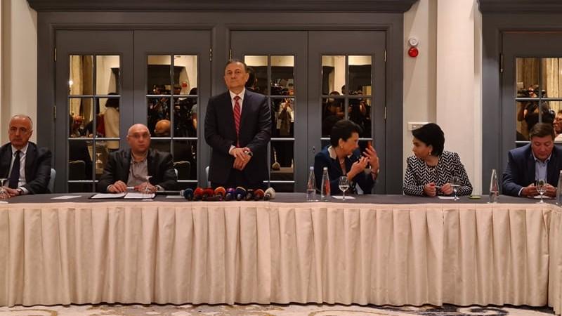 Грузинская оппозиция подписала декларацию о «взаимной защите голосов»