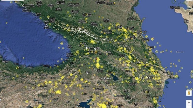 საქართველოში მიწისძვრა მოხდა