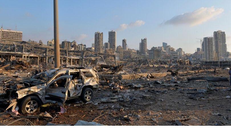 ბეირუთი აფეთქების შემდეგ. ფოტო: EPA
