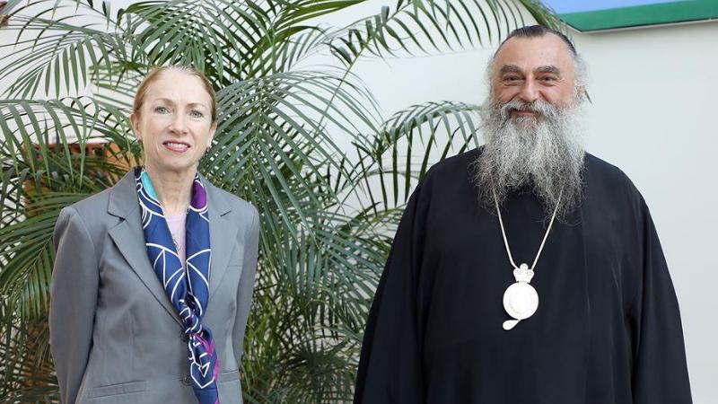 Посол США встретилась с митрополитом патриархии Грузии
