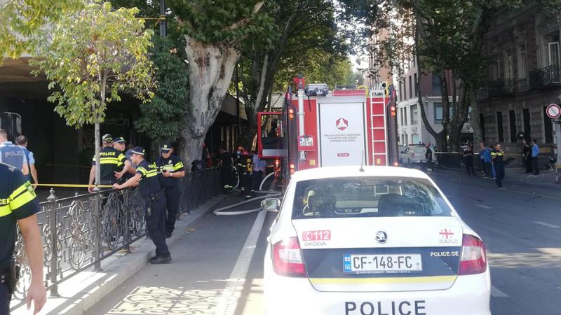 ფილარმონიასთან აფეთქების გამო კოსტავას ქუჩაზე საავტომობილო მოძრაობა შეზღუდულია