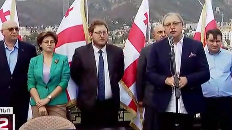 Четыре партии Грузии объединились в единый избирательный блок