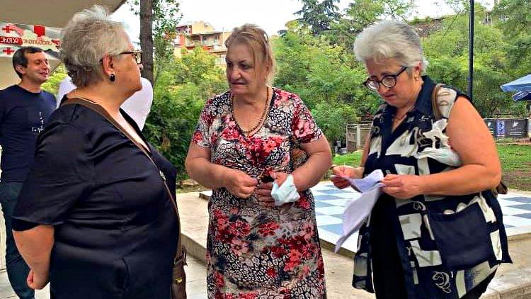 Беженцы из Абхазии провели акцию протеста