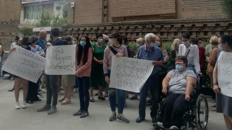 Акция против увольнения директора школы: «Нет — избирательному правосудию!»