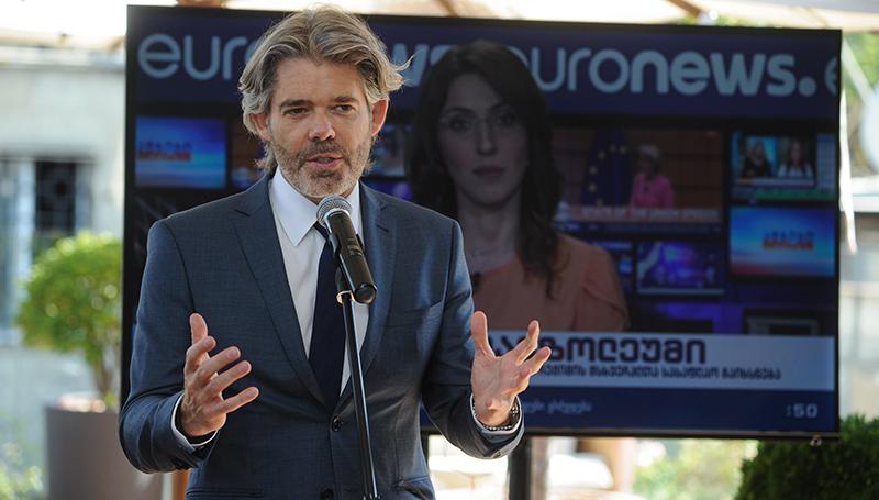 «Euronews Georgia» отмечает начало вещания на грузинском языке