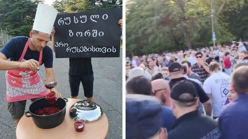 На съезде АПГ активисты, в знак протеста, потчевали присутствующих «про-кремлевским борщом»
