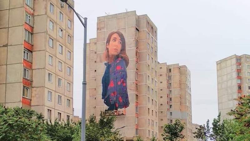 В Тбилиси на стене корпуса нарисовали портрет девушки. Мэрия поясняет, почему