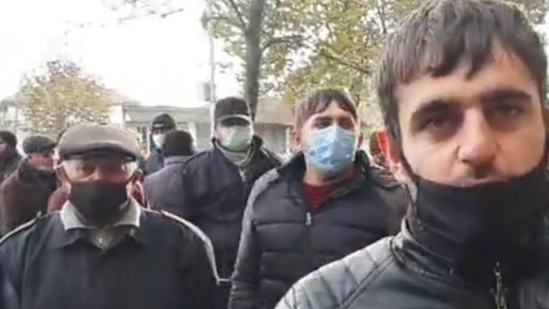 Протест в Марнеули: рабочие требуют выдачи зарплаты