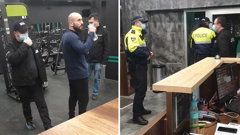 პოლიცია შევიდა ფიტნესკლუბში, რომელიც არ გაჩერდა