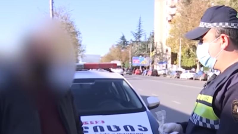 В Грузии за сутки было выписано 1,244 штрафа за несоблюдение регуляций
