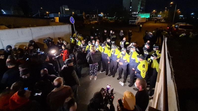Протест у здания ЦИК продолжался всю ночь