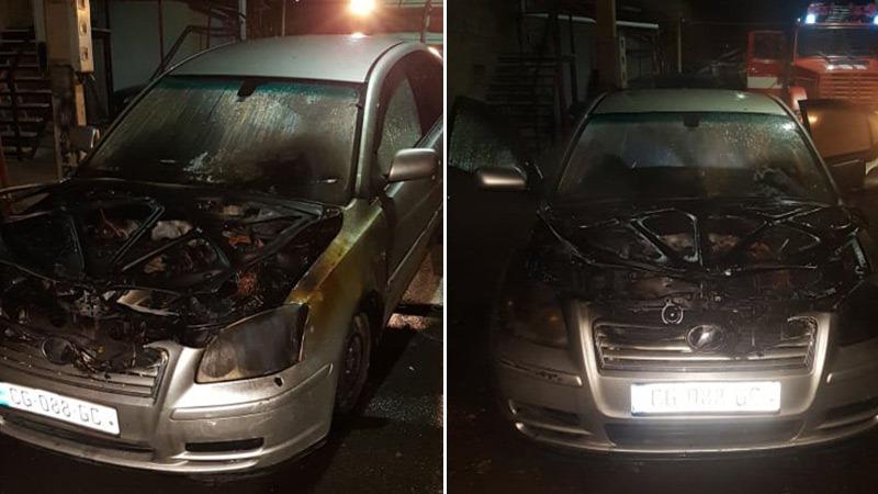 В Ахалцихе сгорела машина члена горсовета. МВД начало следствие