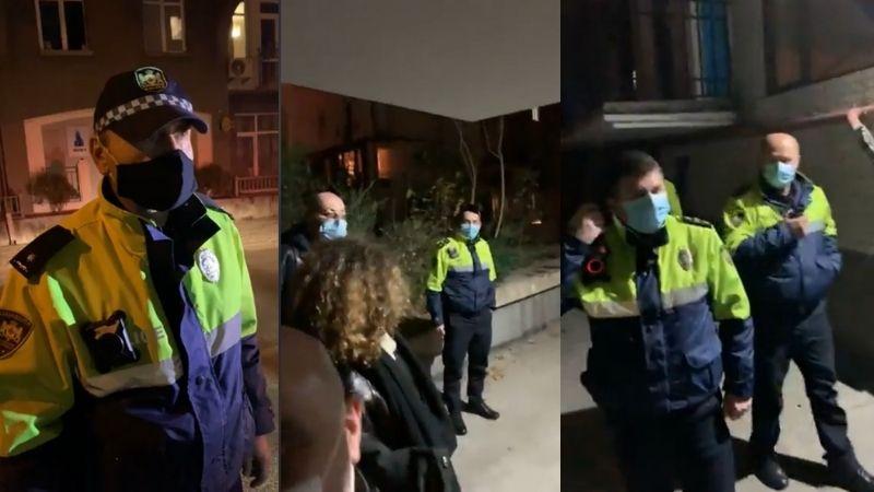 აქტივისტები, რომლებსაც შეშა გადაჰქონდათ, პოლიციის რამდენიმე ეკიპაჟმა გააჩერა