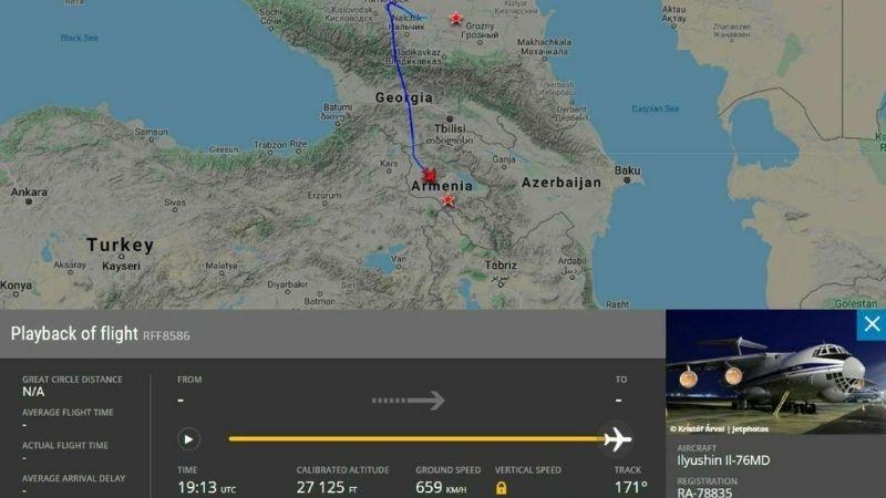Грузия открыла воздушный коридор для российских самолетов доставляющих миротворцев в Карабах