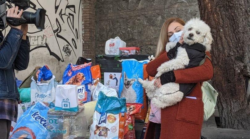 В Тбилиси прошла акция в помощь бездомным животным