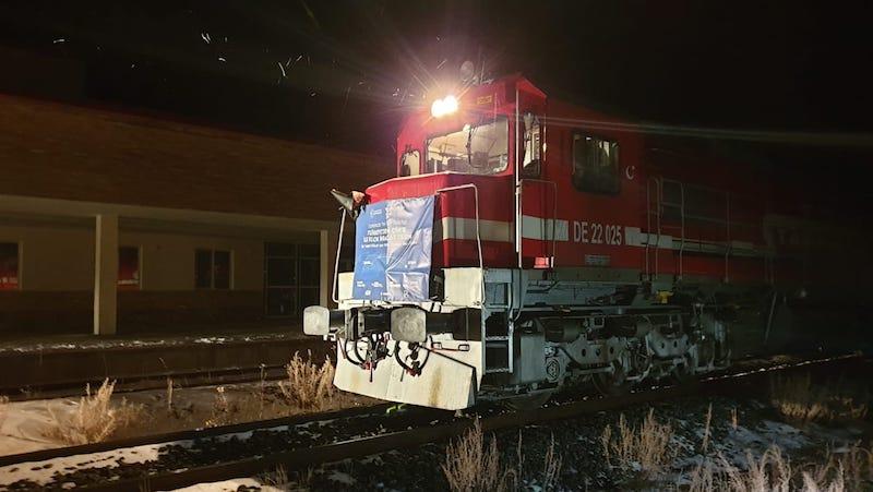 По ЖД Баку-Тбилиси-Карс впервые проехал экспортный поезд, направляющийся в Китай