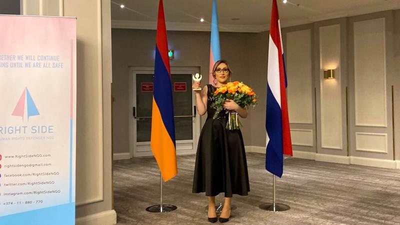 Трансгендерная женщина из Армении стала лауреатом премии «Тюльпан прав человека»