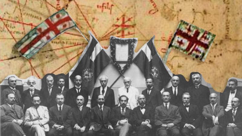 История флага Грузии — от трехцветного к пятикрестному