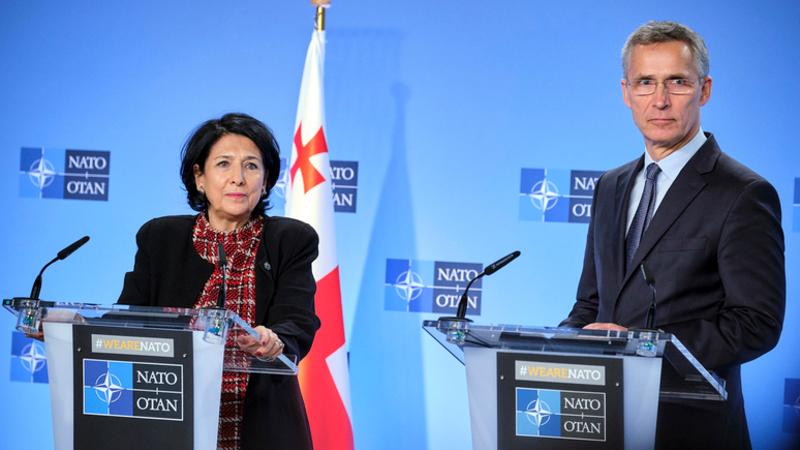 Президент Грузии Саломе Зурабишвили встретится с генсеком НАТО