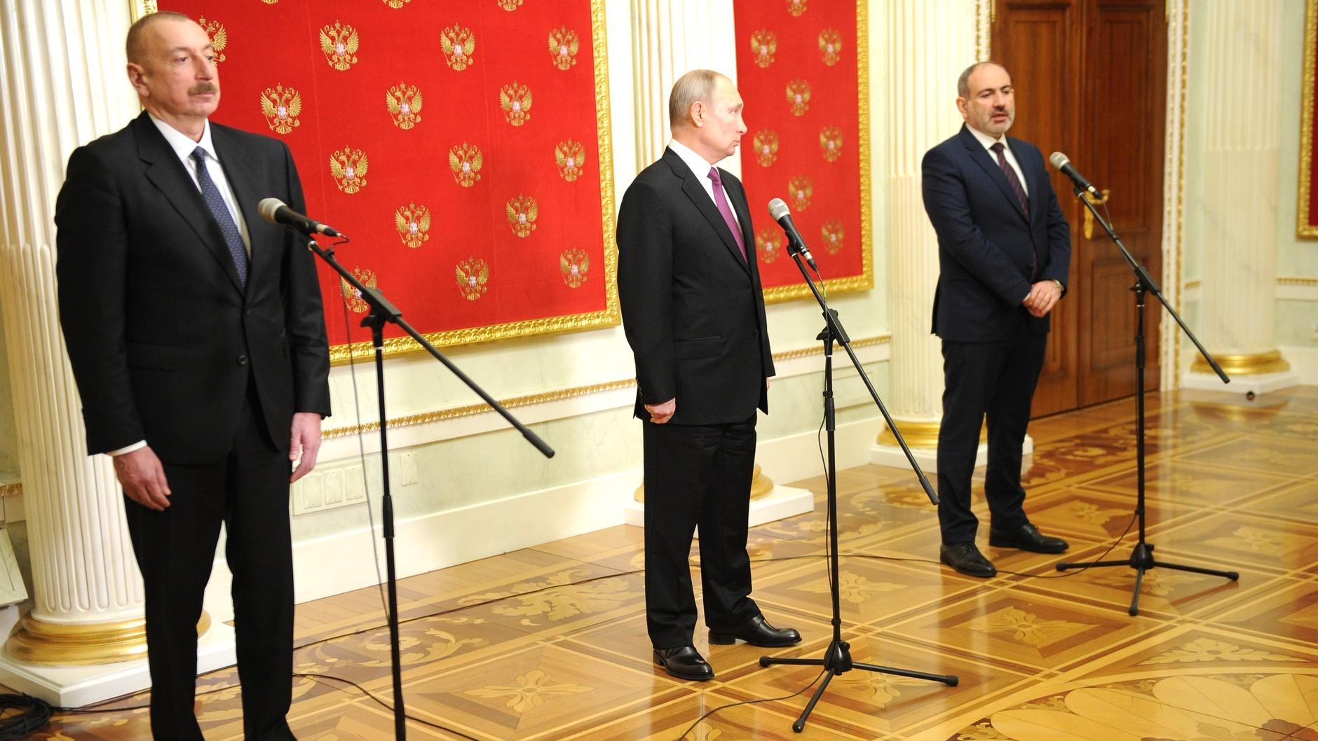 Совместное заявление Путина, Алиева и Пашиняна — о чем договорились лидеры