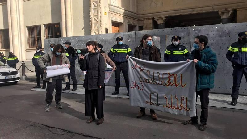 В Тбилиси протестуют против строительства Намахвани ГЭС