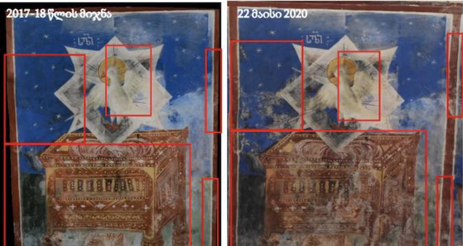 რა განადგურდა და რისი გადარჩენა შეიძლება გელათის კედლის მხატვრობიდან