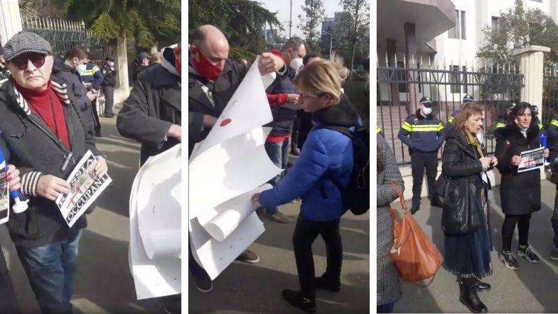 В Тбилиси проходит митинг с требованием к властям предпринять меры для освобождения задержанных в Цхинвали и Сухуми