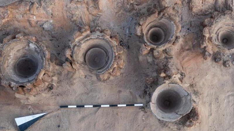 """""""უძველესი ლუდსახარშის"""" ნაშთები. ფოტო: ეგვიპტის ტურიზმის სამინისტრო"""