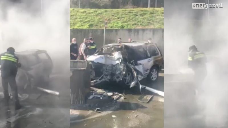 В Тбилиси в результате ДТП загорелся автомобиль, водитель погиб