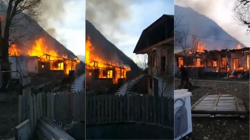В Сванети сгорел жилой дом