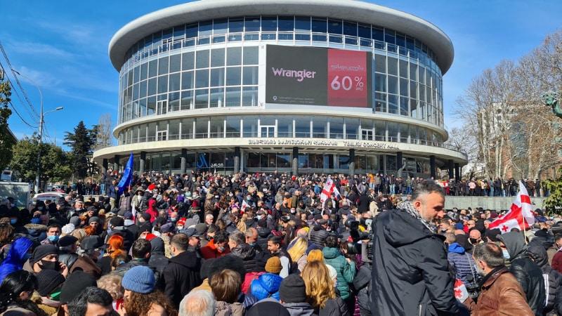 Марш протеста в поддержку Ники Мелия в Тбилиси [фоторепортаж]
