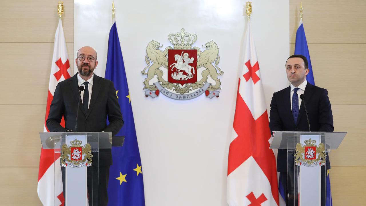 Оппозиционные лидеры: после отъезда главы Евросовета риторика премьера Грузии изменилась