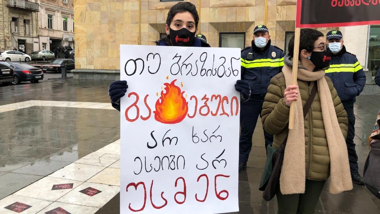 """თბილისში """"1000 მშობლის მარში"""" გაიმართა. ფოტო აქციიდან: ნინო ბიძინაშვილი/ნეტგაზეთი"""
