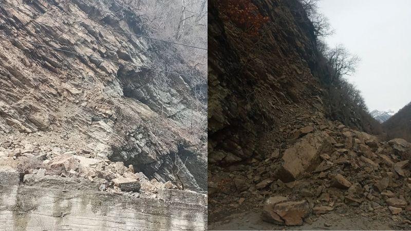 გუდამაყრის ხეობაში კლდე ჩამოიშალა — ჩაკეტილია 22 სოფელი