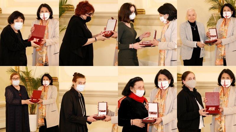 Президент Грузии наградила Орденом царицы Тамар восемь женщин